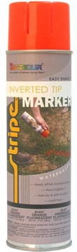 WATER-BASED INVERTED TIP MARKER PAINT - FLUORESCENT Orange